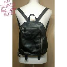 black leather backpack bag smallmedium