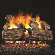 24 burnt split oak vented log set g46