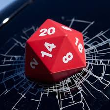 Amazon Com Critical Hit D20 3d Window Decal Vinyl Decal Looks Like A D20 Smashed Your Window A Natural D20 Automotive