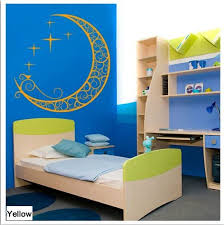 Amazon Com Crescent Half Moon Aladdin Magic Lamp Stars Wall Sticker Decal Home Decor For Living Bed Room Study Yellow S Kitchen Dining