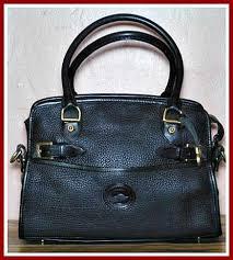 large dooney satchel shoulder bag