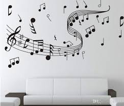 New Arrival Music Symbol Wall Stickers Diy Wallpaper Art Bedroom Home Decoration Sticker Decals Big Wall Stickers Bird Wall Decals From Qiansuning88 7 96 Dhgate Com