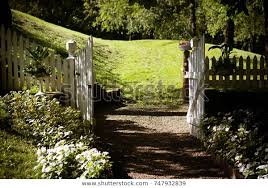 White Picket Fence Gate Stock Photo Edit Now 747932839