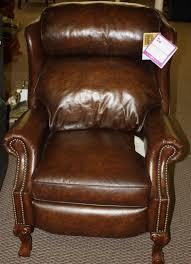 lazy boy leather recliner high leg