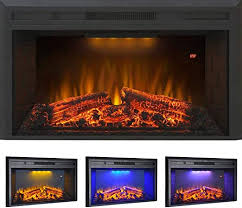 roluxy recessed electric fireplace