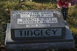 "Paulette Dawn ""Paula"" Tingley (1973-1991) - Find A Grave Memorial"