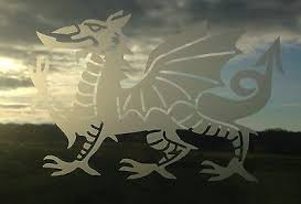 Welsh Dragon Stained Glass Or Frost Etch Effect Window Caravan Greenhouse Decal Ebay