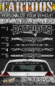 New England Patriots 24 Vehicle Window Decal Free Etsy