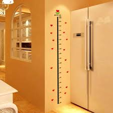 Kids Children S Height Chart Measure Growth Vinyl Decal Wall Sticker Room Decor Ebay