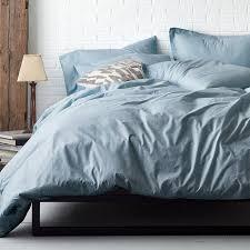 minimalist blue gray duvet covers