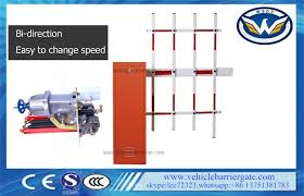 Anti Collision Traffic Barrier Gate Fence Arm Boom Barriers Manual Release Function