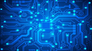 blue circuit board wallpapers