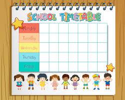 School timetable planner in notebook - Download Free Vectors, Clipart  Graphics & Vector Art