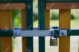 Locked Wooden Gate Latch With Padlock Stock Photo Picture And Royalty Free Image Image 71523260