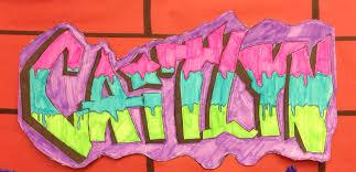 middle art project graffiti