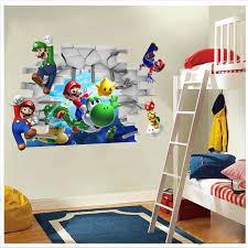 Super Mario Bros Kids Removable Wall Sticker Decals Nursery Home Decor Vinyl Mural For Boy Bedroom Living Room Mural Art Decorative Vinyl Home Decorwall Sticker Aliexpress