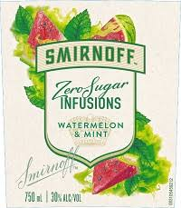 smirnoff zero vodka watermelon and mint