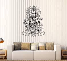Vinyl Wall Stickers Ganesha India Hindu God Home Decoration Mural Decal Unique Gift 170ig Wall Stickers Ganesha Vinyl Wall Stickers Home Decor
