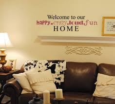 Welcome To Our Happy Home Wall Decal Trading Phrases