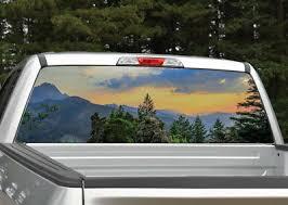 Mountain Scene 3 Sunset Landscape Rear Window Decal Graphic Truck Suv Ebay
