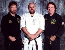 Chuck Norris, Aaron Norris an me | Iain Abernethy