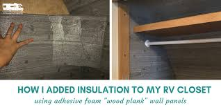 insulating rv walls with faux wood