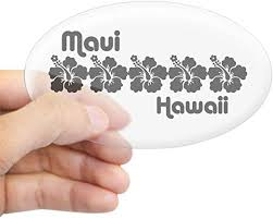 Amazon Com Cafepress Maui Hawaii Oval Bumper Sticker Euro Oval Car Decal Home Kitchen