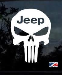 Jeep Punisher Skull Window Decal Sticker Midwest Sticker Shop