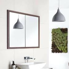 recessed bathroom cabinet with lights