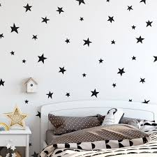 Cute Stars Wall Decals For Nursery Decor Kid S Room Pvc Star Wall Decals House Boutique