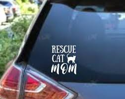 Foster Cat Mom Decal Etsy