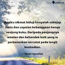 bagiku nikmat hidup hanya quotes writings by shanti