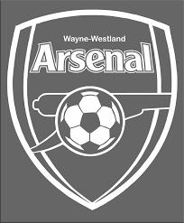 White Outline Window Decal Wayne Westland Arsenal