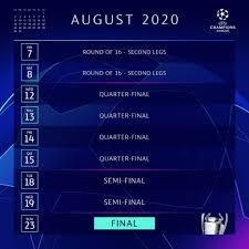 Calendario Champions League, Final Eight 2020: date e partite di agosto