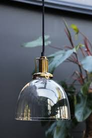 clear glass dome ceiling light with