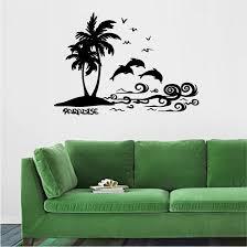 Cute Beach Palm Trees Wall Sticker Wall Sticker Usa