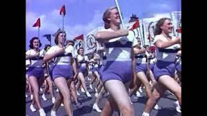 Всесоюзный парад физкультурников 12 августа 1945 года - YouTube