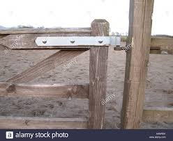 Detail Of Wooden Farm Gate Hinge Stock Photo In 2020 Farm Fence Gate Farm Gate Gate Hinges