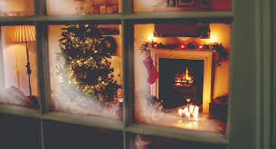 fireplace for holiday decorating