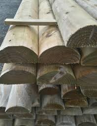 Fence Rail Half Round 3 6m 12ft 100mm 4 Prudhoe Timber