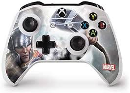 Amazon Com Skinit Decal Gaming Skin Compatible With Xbox One S Controller Officially Licensed Marvel Disney Thor Power Design Electronics