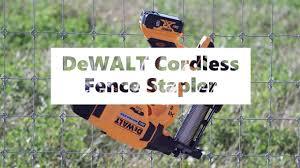 Dewalt Cordless Fence Stapler Rapid Fire Mode Youtube