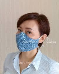 face mask pattern free sewing pattern