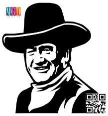Duke John Wayne Silhouette Stencil Silhouette Vinyl