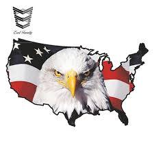 Earlfamily 13cm X 8 1cm Car Styling Car Sticker Usa Eagle New Sticker America United States Map Flag Bumper Vinyl Decal Patriot Car Stickers Aliexpress