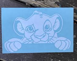 Simba Decal Etsy