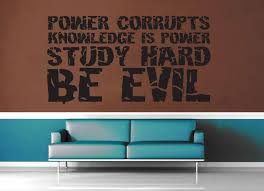 Study Hard Be Evil Wall Decal Geekerymade