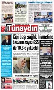 Gazete Sayfaları: 14 EYLÜL 2020 - Tünaydın Gazetesi