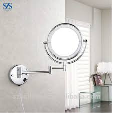 20x magnifying hinged round mirror wall