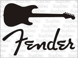 Product Fender And Guitar Decal Sticker